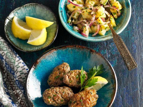 Kafta und Salat