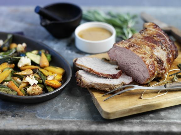 Kalbsbraten Mit Gemüse Aus Dem Ofen Rezept Eat Smarter