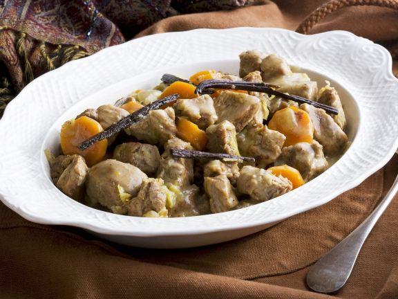Kalbsgulasch mit Karotten und Vanille