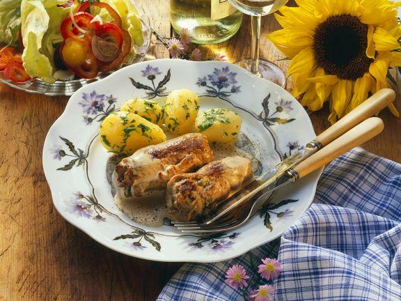 Kalbsrouladen mit Kartoffeln