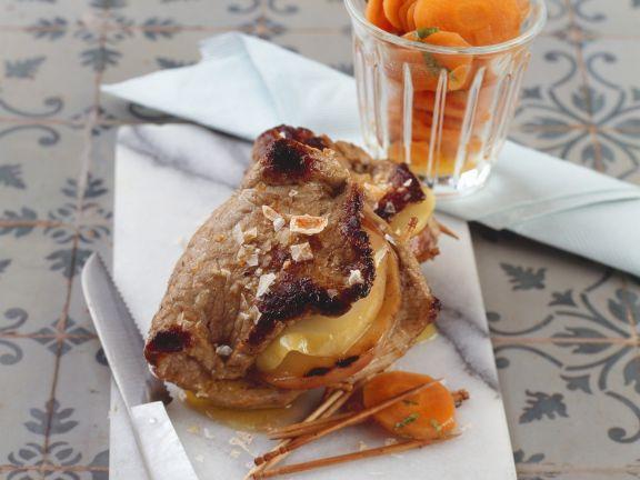 Kalbsschnitzel mit Apfelfüllung