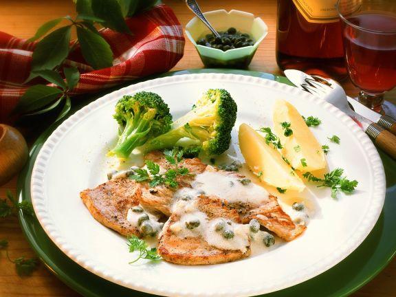 Kalbsschnitzel mit Gemüse