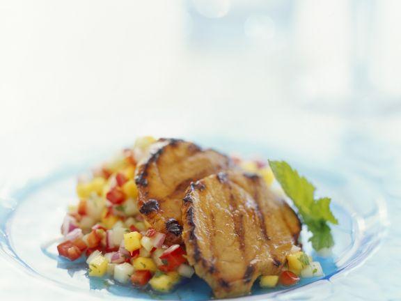 Kalbsschnitzel mit Mangosalsa
