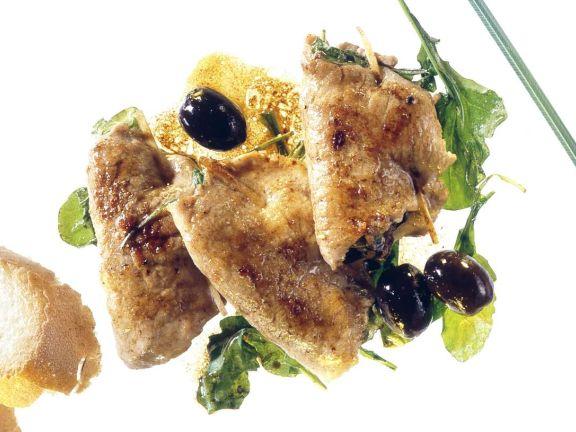 Kalbsschnitzel mit Oliven