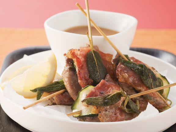 Kalbsschnitzel mit Parmaschinken und Salbei (Saltimbocca alla romana)