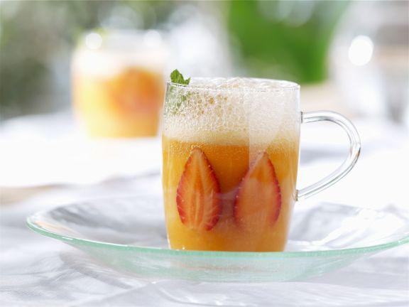 Kalte Erdbeer-Melonen-Suppe