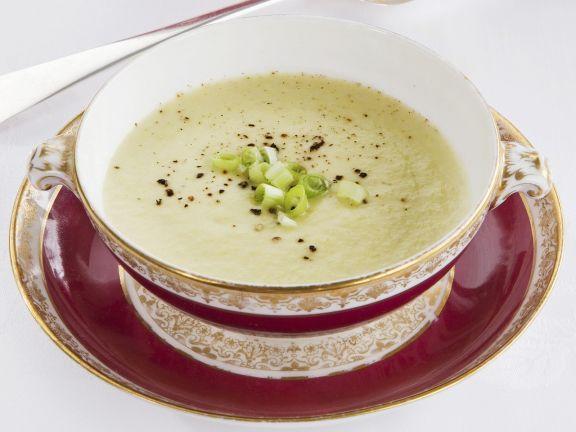 Kalte Kartoffel-Porree-Suppe