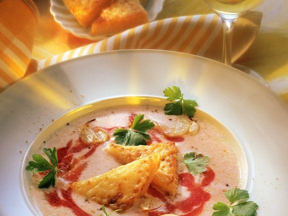 Kalte Tomatensuppe mit Buttermilch