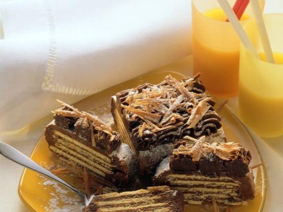 Kalter Hund (Schokoladen-Keks-Kuchen)