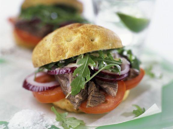 Kalter Rindfleisch-Burger