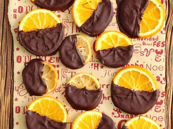 Kandierte Orangen in Schokolade