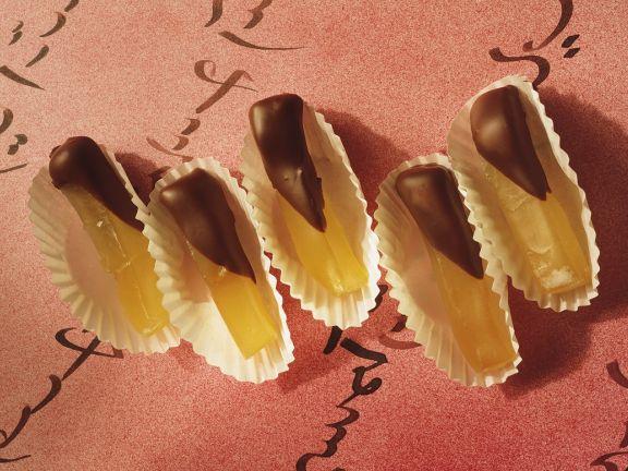 Kandierter Kürbis mit Schokolade