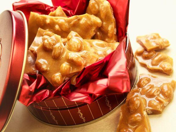 Karamell mit Erdnüssen