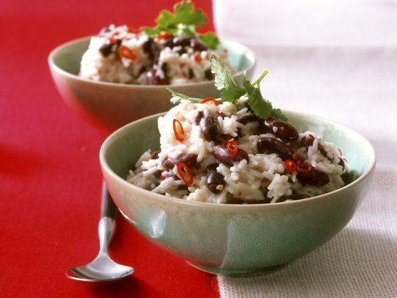Karibisches Reis-Bohnen Gericht