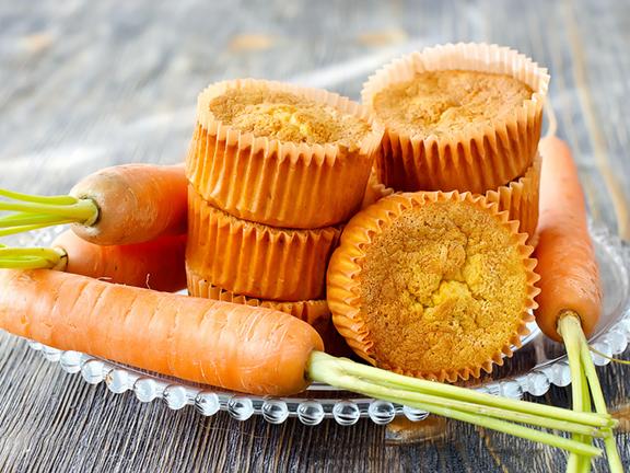 Leckeres Gemüse-Dessert: Karotten-Muffins