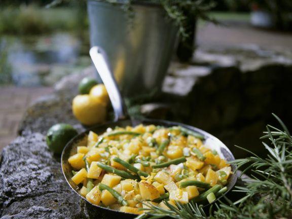 Kartoffel-Bohnen-Pfanne mit Zitrone