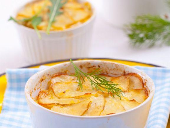 Kartoffel-Fenchelgratin