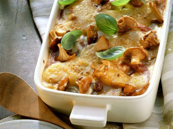 Kartoffel-Lasagne mit Pilzen