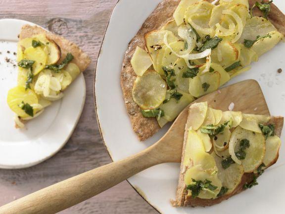 Kartoffel-Quark-Pizza