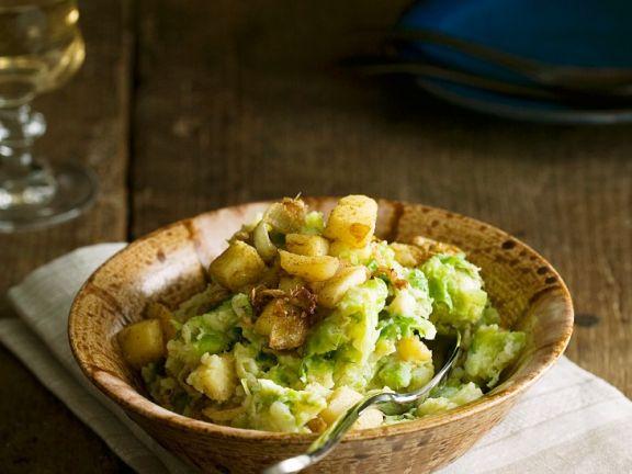 Kartoffel-Rosenkohl-Stampf