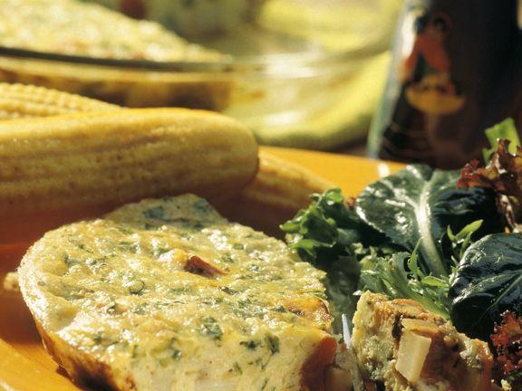 Kartoffel-Salami-Frittata