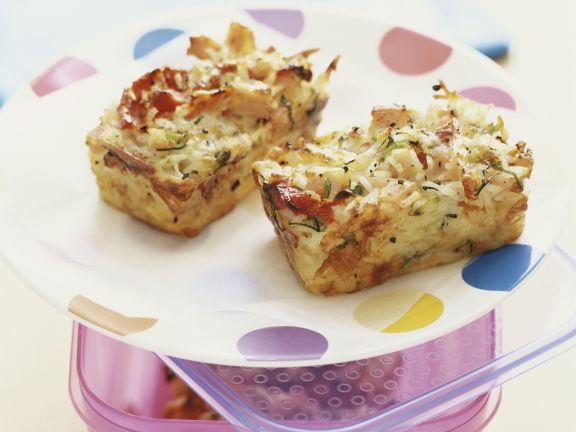 Kartoffel-Schinken-Kuchen mit Kräutern