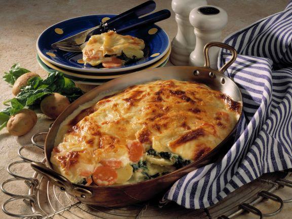 Kartoffel-Spinat-Lasagne