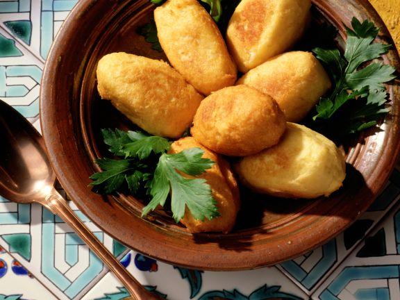 Kartoffel-Stockfisch-Kroketten