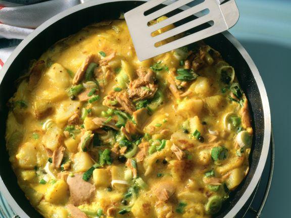 Kartoffel-Thunfisch-Omelett