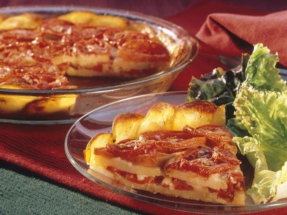 Kartoffel-Tomatengratin