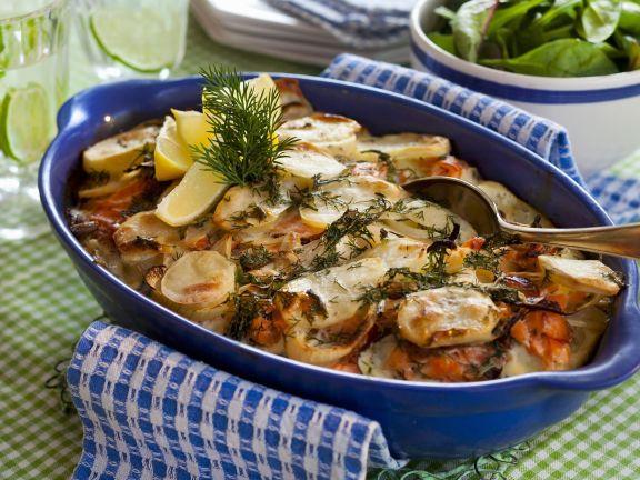 Kartoffel Wildlachs Gratin Rezept Eat Smarter