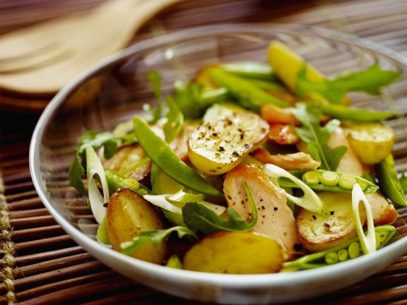 Kartoffel-Zuckerschotensalat