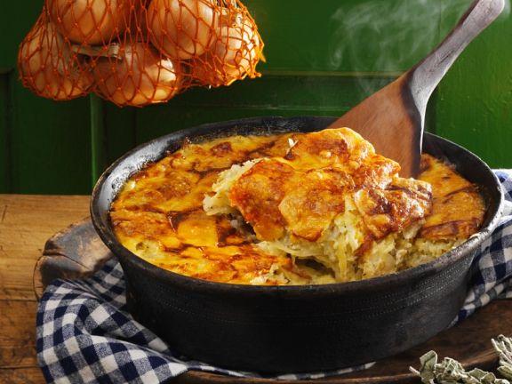 Kartoffel-Zwiebel-Gratin