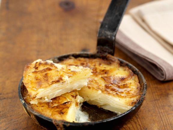 Kartoffelauflauf in der Pfanne