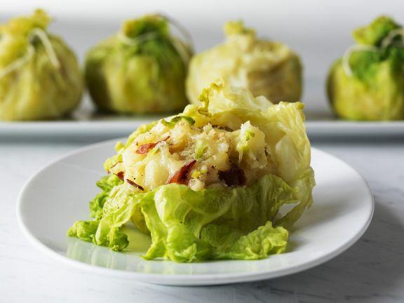 Kartoffelbrei im Kohlpäckchen