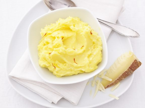Kartoffelbrei mit Safran