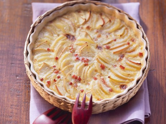 Kartoffelgratin mit Apfel
