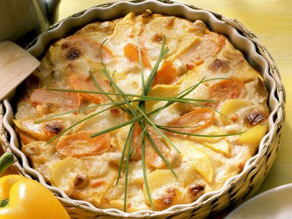 Kartoffelgratin mit Mango