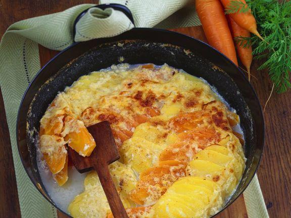 Kartoffelgratin mit Möhren