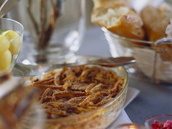Kartoffelgratin mit Sardellen