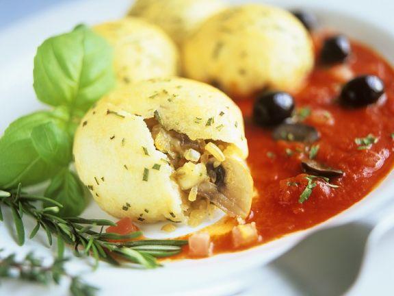 Kartoffelklöße mit Pilzfüllung