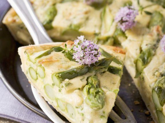 Kartoffelkuchen mit Spargel