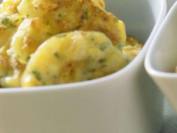 Kartoffelküchlein als Suppeneinlage