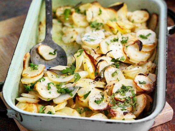 Kartoffeln aus dem Ofen mit Sherry