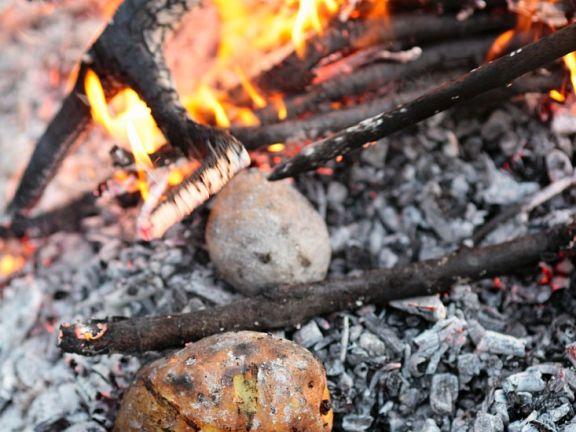 Kartoffeln aus der Glut