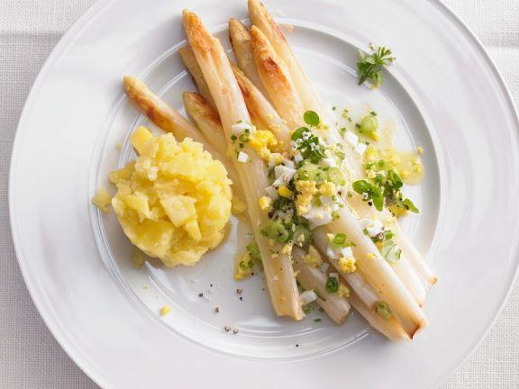 Kartoffeln, Ei und Spargel