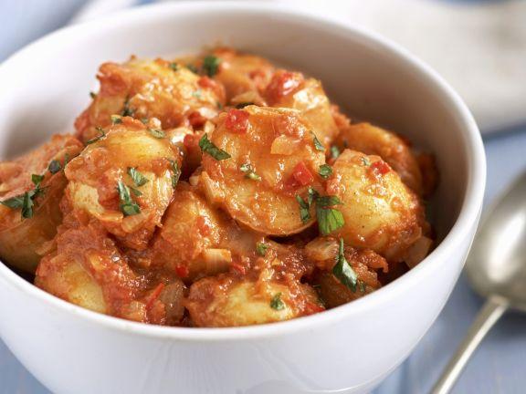 Kartoffeln in Tomatensoße auf spanische Art