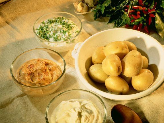 Kartoffeln mit dreierlei Quark