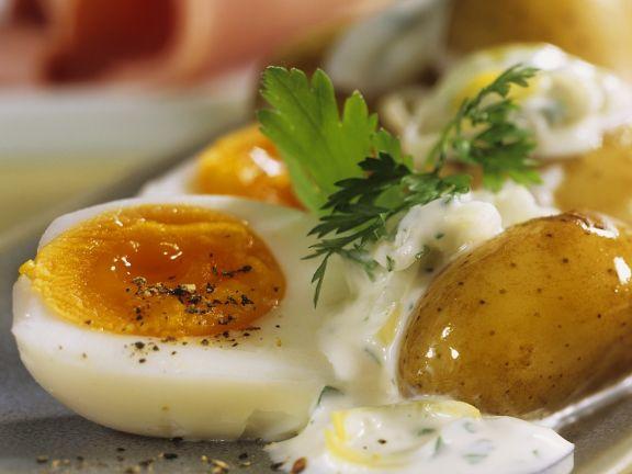 Kartoffeln mit Ei