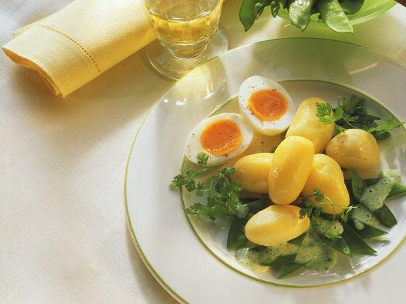 Kartoffeln mit Zuckerschoten